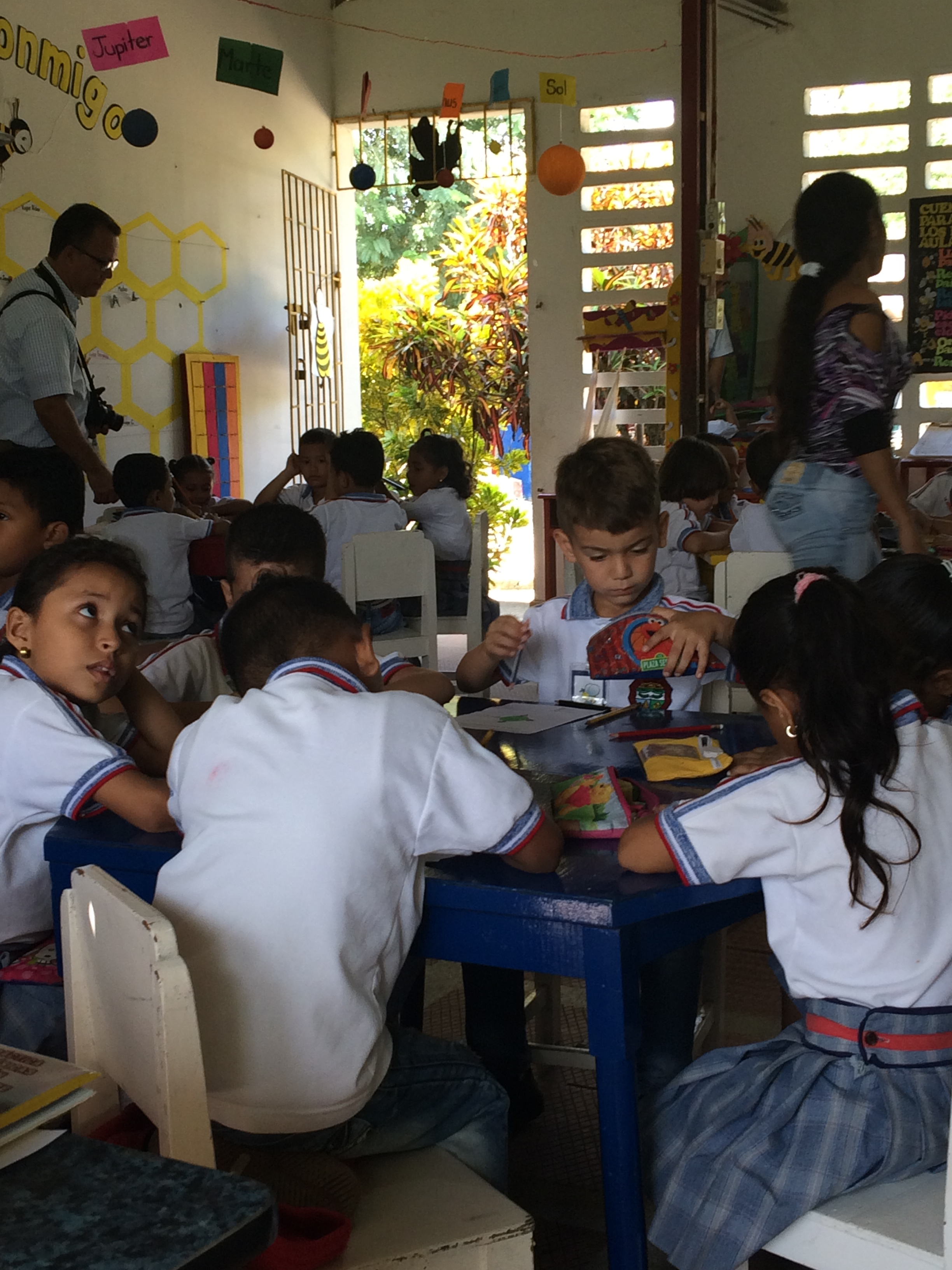 Niños en clase