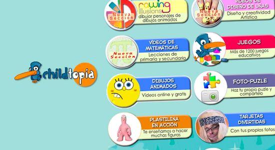 Childtopia Una Pagina Web Llena De Juegos Ludicos Y Educativos